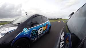 nissan leaf zero emission nissan leaf playing with ice race cars youtube