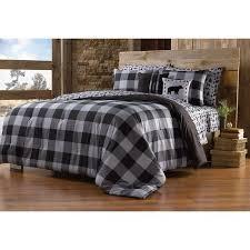 Plaid Bed Set Northcrest Gray Buffalo Plaid Comforter Set Shopko
