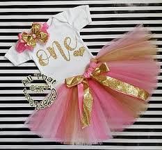 1st birthday tutu pink and gold one year birthday tutu skirt unicorn