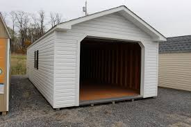 pine creek 14x32 vinyl peak garage shed sheds barn barns in