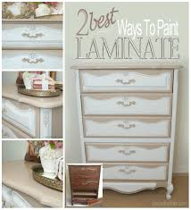 best paint for furniture 2 best ways to paint laminate furniture salvaged inspirations