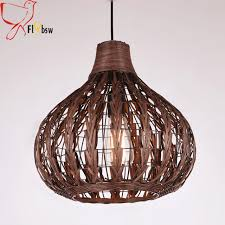 southeast asia style rattan hanging l 35 33cm coffee color