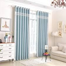 Patio Door Curtains Baby Blue Lace Patterned Patio Door Curtains