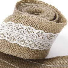 aliexpress com buy 2m hessian jute lace craft ribbon for diy