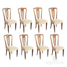 a stylish set of 8 italian 1940 u0027s pear wood shield back dining