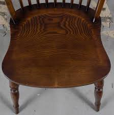 set of 6 english oak windsor dining chairs