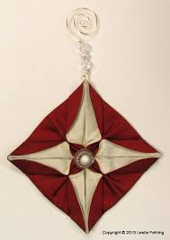everyday artist fabric origami the prettiest ornaments on the tree