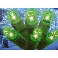 everstar set of 60 green led mini lights with green wire