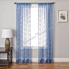 charming navy blue sheer curtains and curtains ideas blue sheer