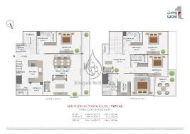 floor plan park gate residences 3 podium townhouse type 5