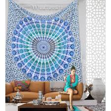 Tapestry On Bedroom Wall Mandala Indian Hippy Wall Hanging Tapestry