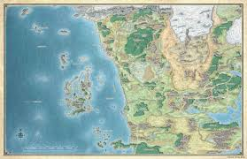 Lord Of The Rings Map Here At The End Of All Things