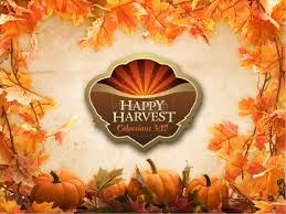 happy harvest sermon powerpoint fall thanksgiving powerpoints