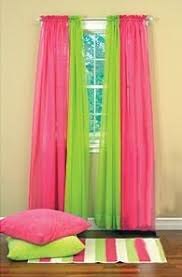 Curtain For Girls Room Girls Room Green And Pink Curtains Baby Pinterest Pink