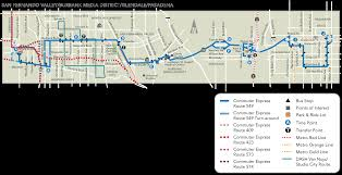 Metro Bus Routes Map by Commuter Express 549 Ladot Transit Services