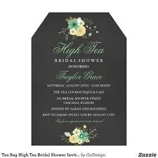 Bridal Shower Invitation Cards Samples Tea Bag High Tea Bridal Shower Invitation Elegant Chalkboard