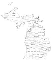Blank Map Of Us States by Michigan County Map Clip Art 37