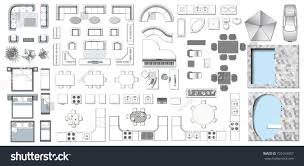 set top view interior icon design stock vector 720163957