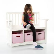 guidecraft classic white storage bench guidecraft
