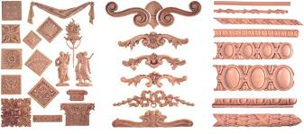 wood appliques for cabinets and onlays
