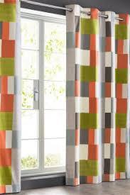 Geometric Orange Curtains Geometric Curtains Geometric Eyelet Curtains Next Uk
