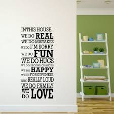 online get cheap wall stickers in this house we do real removeable large wall decals quotes house rule we do real fun happy love vinyl art stickers