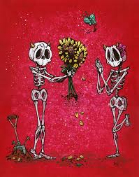 day of the dead art by david lozeau
