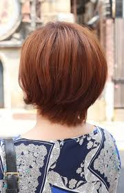 back view of short auburn bob hairstyle hairstyles short hair