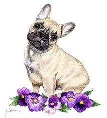 french bulldog art still a dreamer