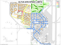 afb map changes to traffic in altus air base housing altus air
