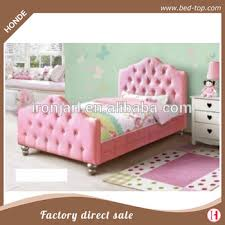 girls princess bed pink pu leather twin bed frame y buy pink