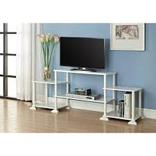Wooden Tv Stands And Furniture Furniture Corner Costco Tv Stands With Brown Wood Material On