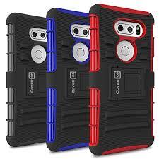 lg v30 v30 plus holster case explorer series hybrid cover with