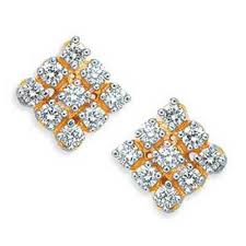 diamond earrings with price avsar gold diamond earrings gold earrings homeshop18