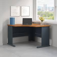 Cherry Corner Desk With Hutch Amazon Com Series A 48w Corner Desk In Natural Cherry And Slate
