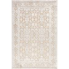 Area Rugs White Three Posts Harting Machine Woven Tufted Chenille White Ivory
