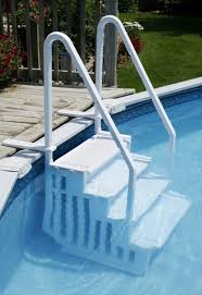 above ground pool stairs strong large above ground swimming pool