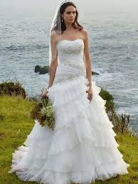 strapless a line white beach style wedding dress david u0027s bridal