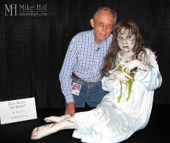 legendary make up artist smith poses with mike 39 s recreation of his original horror masterpiece