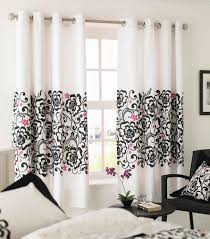 black and white interiors interactive image of window treatment decoration using grommet top