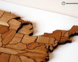 us map puzzle wood united states map etsy
