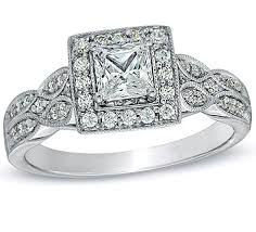 princess cut engagement rings white gold glamorous vintage antique halo cheap engagement ring 1 00 carat