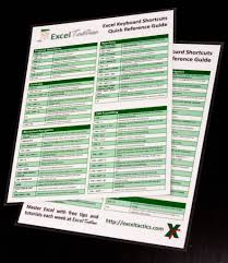microsoft excel keyboard shortcuts quick reference guide