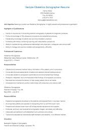 Sample Athletic Resume by Sample Obstetrics Sonographer Resume Horoscope 2016 Pinterest