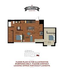 2 Bedroom Travel Trailer Floor Plans 1 2 Bed Apartments Longfellow Lofts Historic