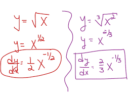 derivatives power rule with fractional exponents math showme