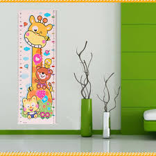 popular wall stickers height chart buy cheap wall stickers height 24 7cm 75 5cm baby children height sticker cartoon animal growth height chart wall sticker