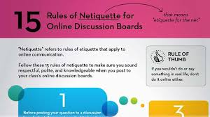tips class online infographic 15 of netiquette for online discussion boards