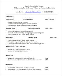 chronological resume template chronological resume template 28 free word pdf documents
