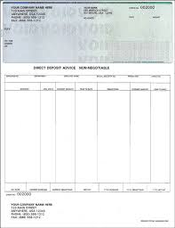 Sle Pay Stub Template Excel Free Paycheck Stub Template Check On Top Format Payroll Check